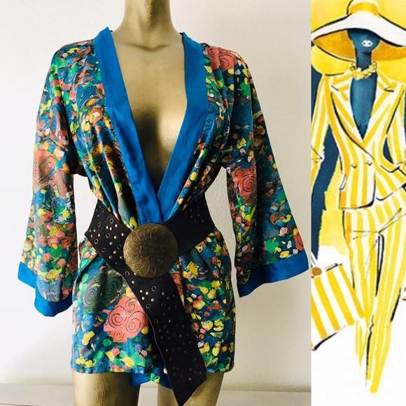 Giorgio Beverly Hills Jackets & Blazers - Rare GIORGIO BEVERLY HILLS Vintage KIMONO Jacket